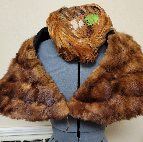 Antique Mink stole and hat